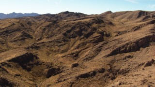 TS02_02 - 1080 stock footage aerial video of the Muddy Mountains in the Valley of Fire, Nevada