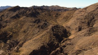 TS02_03 - 1080 stock footage aerial video fly over the Muddy Mountains in the Valley of Fire, Nevada