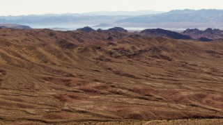 TS02_15 - 1080 stock footage aerial video of the Muddy Mountains and Lake Mead, Valley of Fire, Nevada