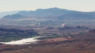 TS02_22 - 1080 stock footage aerial video of homes around Lake Las Vegas in Henderson, Nevada