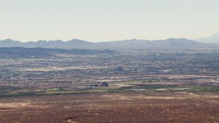 TS02_29 - 1080 stock footage aerial video of neighborhoods in Henderson, Nevada