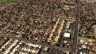 TS02_33 - 1080 stock footage aerial video of residential neighborhoods in East Las Vegas, Nevada