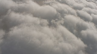 WA001_003 - 4K stock footage aerial video of reverse view of clouds over Southern California