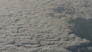 WA001_020 - 4K stock footage aerial video of a reverse view of cloud cover over Santa Clarita Valley, California