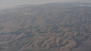 WA002_007 - 4K stock footage aerial video approach Lake Piru in Los Padres National Forest, California