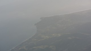 WA003_012 - 4K stock footage aerial video of a view of Malibu on the coast and the Pacific Ocean, California