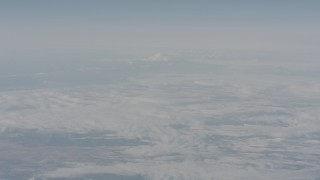 WA004_017 - 4K stock footage aerial video of Mount Shasta seen from across Modoc County, California