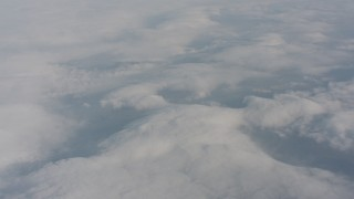 WA004_025 - 4K stock footage aerial video of cloud cover over Lake County, Oregon