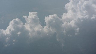 WA005_089 - Aerial stock footage of A cloud formation high above West Virginia