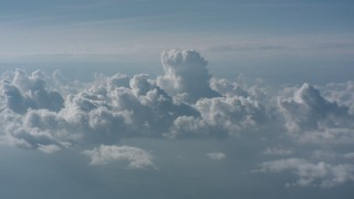 WA006_001 - Aerial stock footage of A view of cloud formations, West Virginia