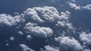 WA007_016 - 4K stock footage aerial video tilt to a bird's eye view of clouds high above North Carolina