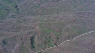 WA007_045 - Aerial stock footage of Flying over the Chino Hills in California