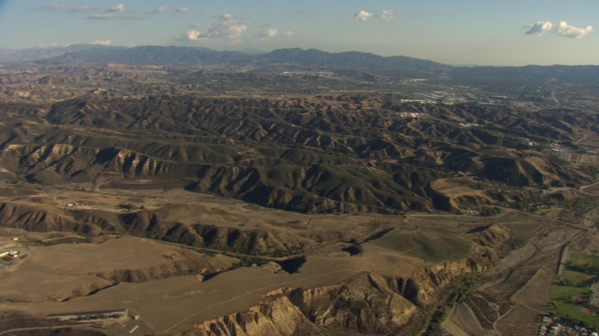 HD stock footage aerial video flyby Castaic Lake and Castaic Dam in California Aerial Stock Footage | AF0001_000048