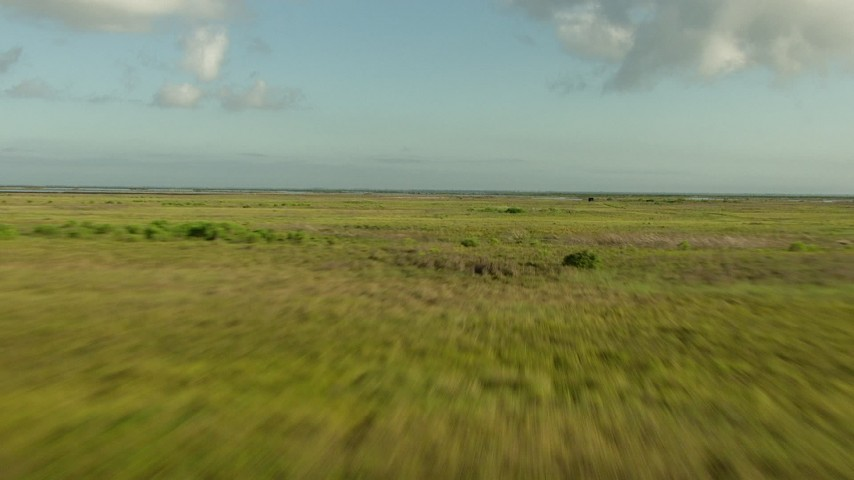 HD stock footage aerial video fly low over marsh on the Matagorda Peninsula, Texas Aerial Stock Footage | AF0001_000198