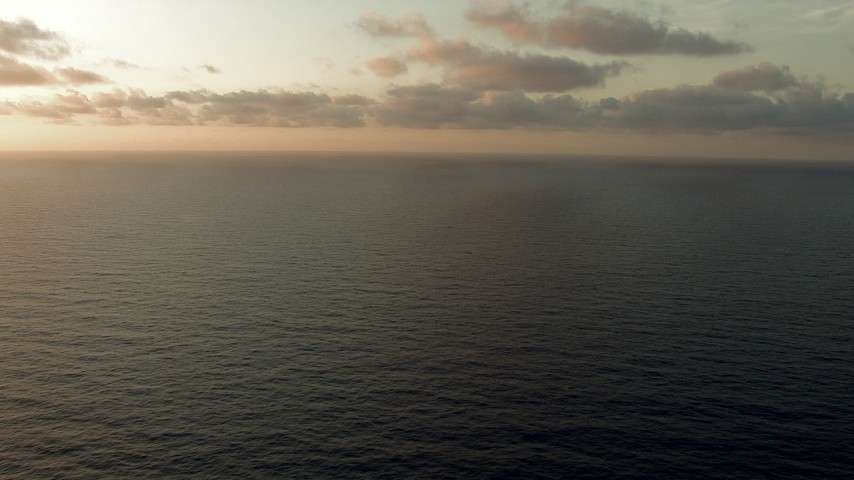 HD stock footage aerial video fly low over the sea at sunrise, Gulf of Mexico Aerial Stock Footage | AF0001_000350
