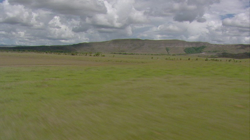 HD stock footage aerial video of mountains seen from savanna in Southern Venezuela Aerial Stock Footage   AF0001_000647