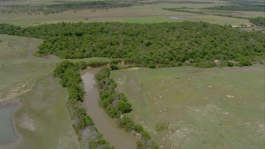 HD stock footage aerial video of a river, patches of jungle, and savanna in Southern Venezuela Aerial Stock Footage | AF0001_000692