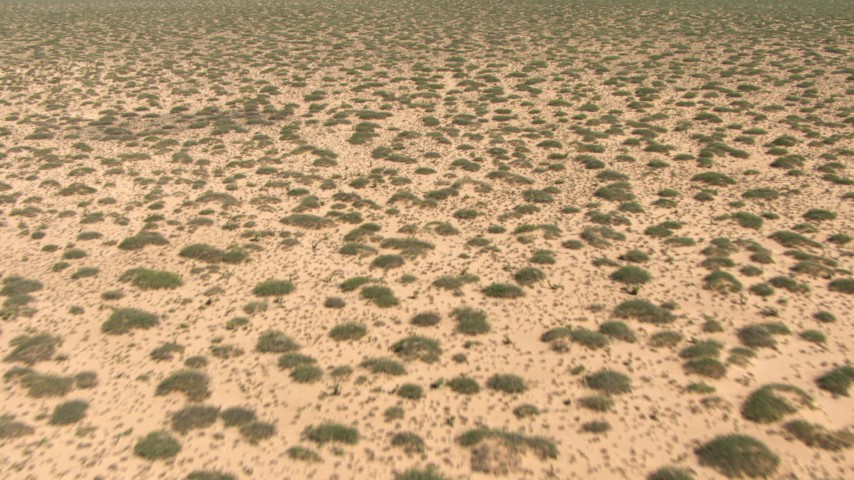 HD stock footage aerial video fly low over a flat desert plain in New Mexico Aerial Stock Footage | AF0001_000898