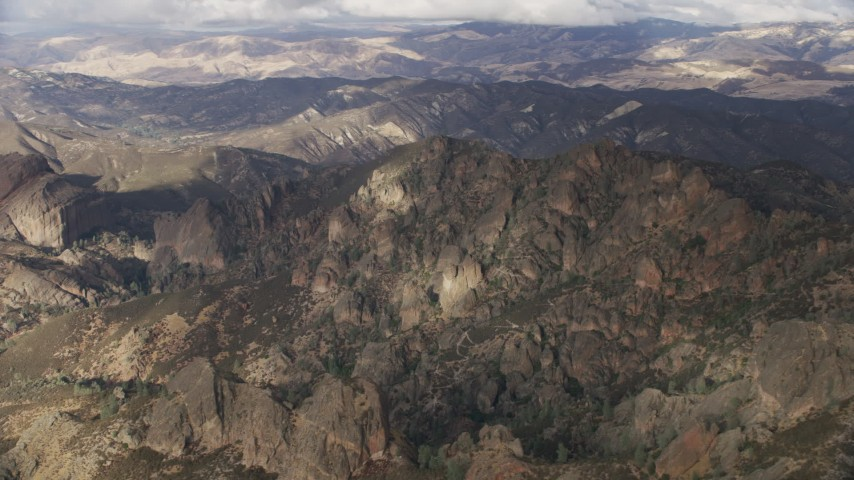 8K stock footage aerial video of rugged desert mountains in Southern California Aerial Stock Footage   AF0001_001023
