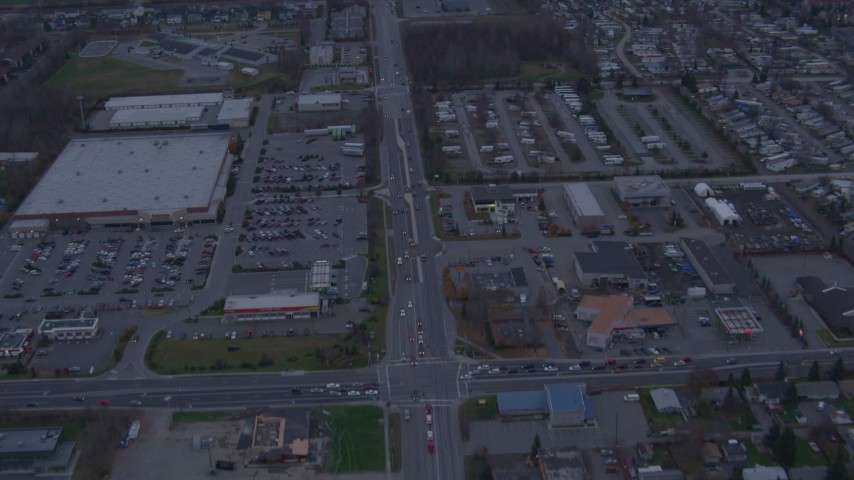 4K stock footage aerial video Debarr Road, neighborhoods, Chugach Mountains, Anchorage, Alaska Aerial Stock Footage | AK0001_0176