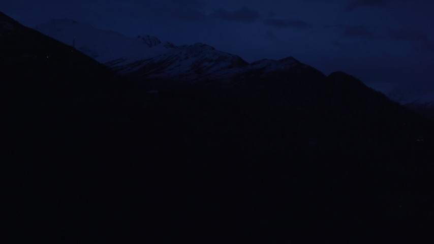 4K stock footage aerial video flying by communications tower, Chugach Mountains, Anchorage, Alaska, sunrise Aerial Stock Footage   AK0001_0606
