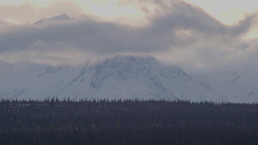 4K stock footage aerial video a snow covered Talkeetna Mountain peak, Alaskan Wilderness Aerial Stock Footage | AK0001_1048