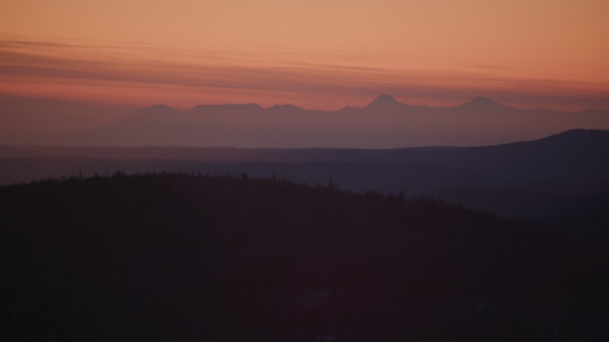 4K stock footage aerial video the Talkeetna Mountains at sunset in snow, Matanuska River Valley, Alaska Aerial Stock Footage | AK0001_1116
