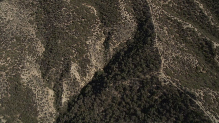 5K stock footage aerial video of a bird's eye view of the San Gabriel Mountains, California Aerial Stock Footage | AX0005_014