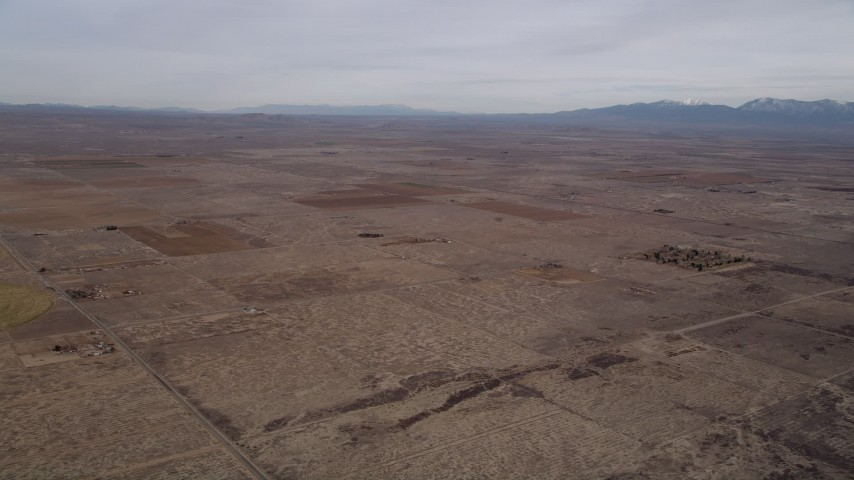 5K stock footage aerial video of VFX Background Plate of open desert in Antelope Valley, California Aerial Stock Footage | AX0006_103