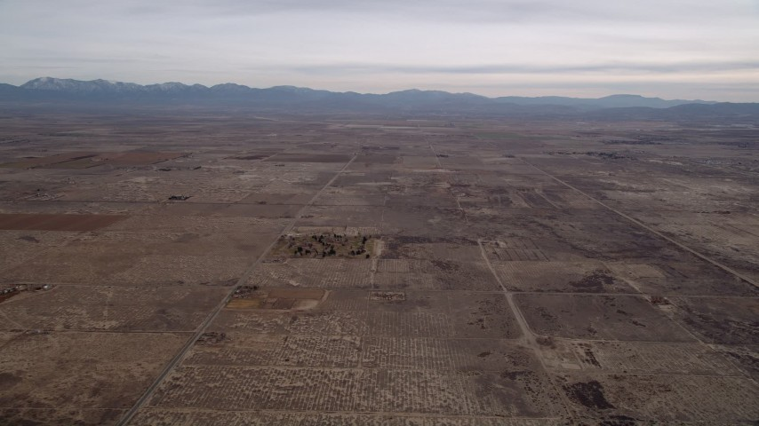 5K stock footage aerial video of desert background VFX Plate of the Mojave Desert, California Aerial Stock Footage | AX0006_104