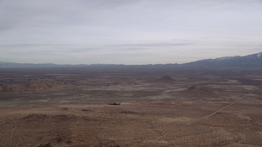 5K stock footage aerial video of a Mojave Desert VFX Background Plate, California Aerial Stock Footage | AX0006_129