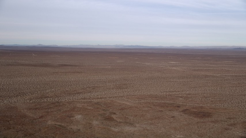 5K stock footage aerial video of Mojave Desert VFX Background Plate, California Aerial Stock Footage | AX0006_149
