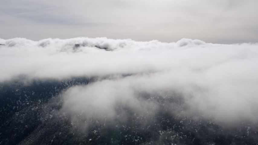 5K stock footage aerial video of approaching a cloud bank over Southern California Aerial Stock Footage | AX0010_087
