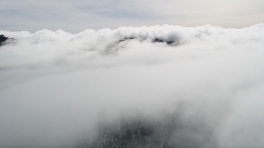 5K stock footage aerial video of flying over Southern California clouds Aerial Stock Footage | AX0010_089