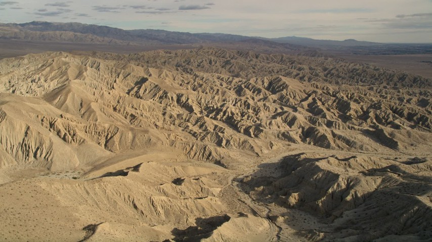 5K stock footage aerial video approach the Little San Bernardino Mountains in the Mojave Desert, California Aerial Stock Footage | AX0011_001
