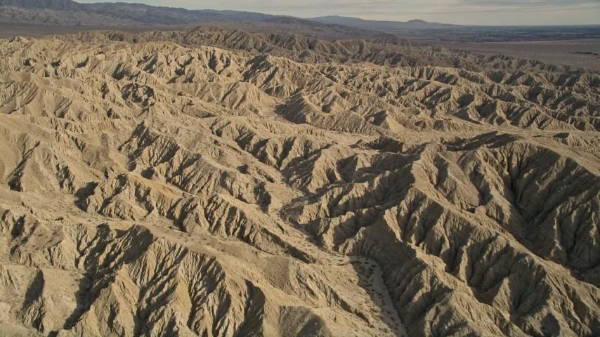 5K stock footage aerial video fly over the Little San Bernardino Mountains, California Aerial Stock Footage | AX0011_002