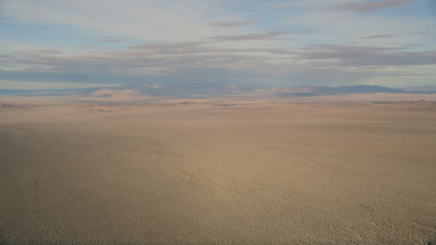 5K stock footage aerial video of a wide view of the Mojave Desert in California Aerial Stock Footage | AX0011_065