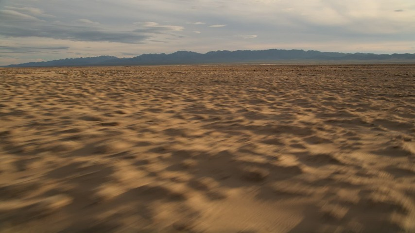 5K stock footage aerial video fly by open desert, Mojave Desert, California Aerial Stock Footage | AX0012_038