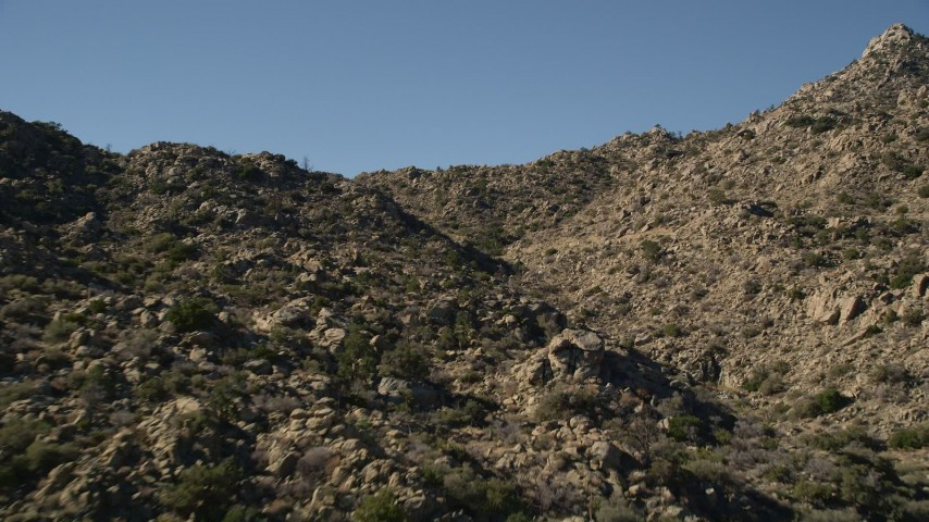 5K stock footage aerial video fly through a rocky canyon, San Jacinto Mountains, California Aerial Stock Footage | AX0014_007E