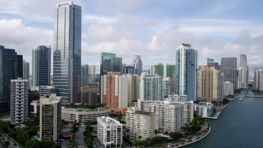Miami, FL Aerial Stock Footage