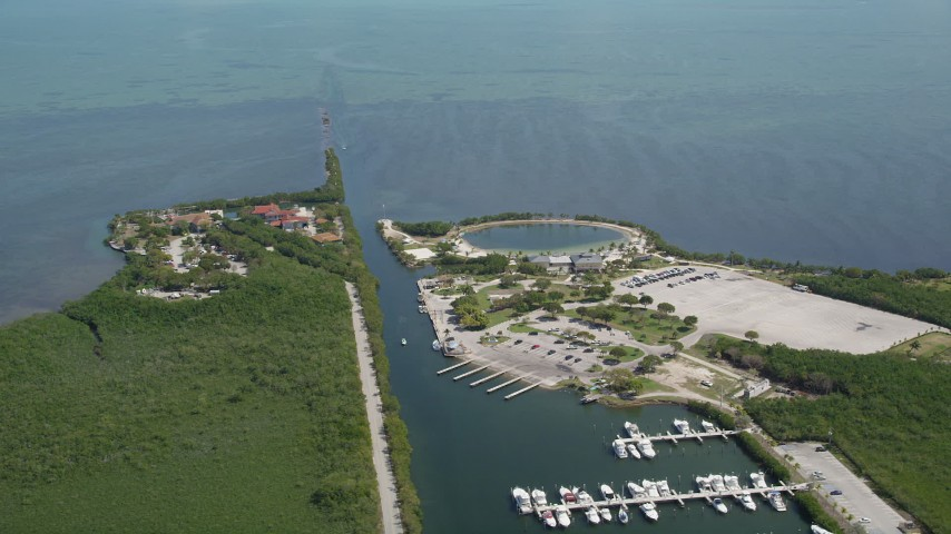 5K aerial stock footage video of Homestead Bayfront Park, Homestead, Florida Aerial Stock Footage AX0025_019 | Axiom Images