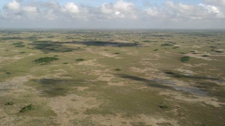 5K stock footage aerial video of a wide view of the Florida Everglades, Florida Aerial Stock Footage | AX0030_055