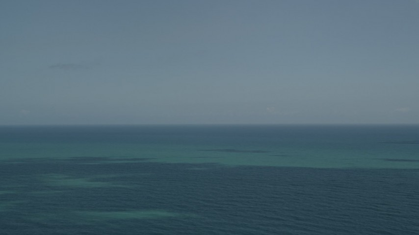 5K stock footage aerial video of the blue ocean seen from Vero Beach, Florida Aerial Stock Footage   AX0033_053