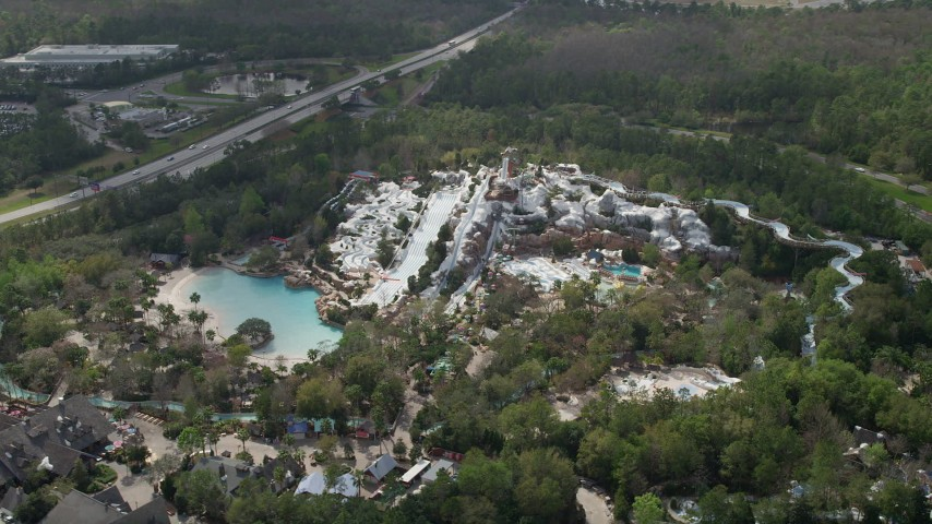 5k Aerial Video Of Blizzard Beach Water Park Walt Disney World
