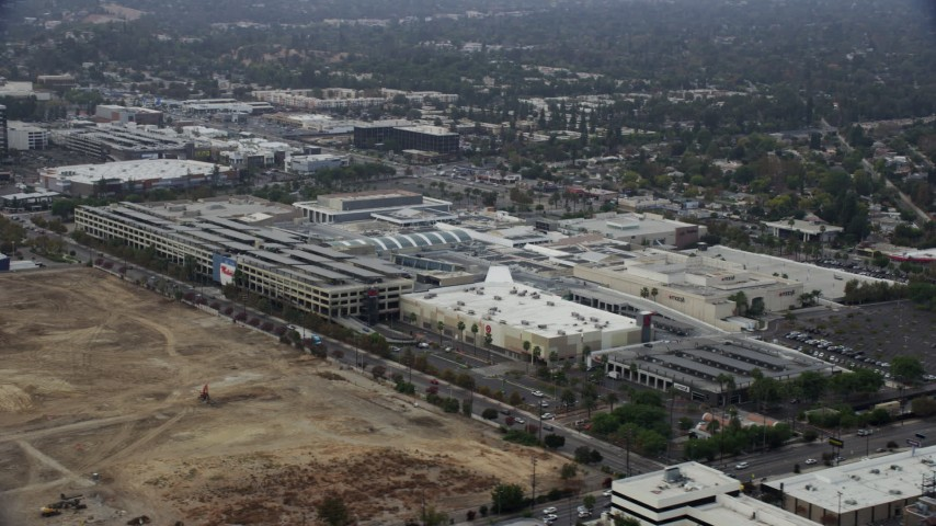 1621f8cf34282 8K stock footage aerial video orbiting Target and Macy's at Westfield  Topanga Mall, Woodland Hills, California Aerial Stock Footage AX0157_026