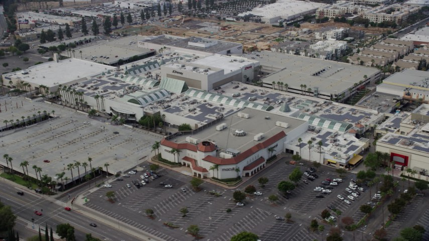 8K stock footage aerial video of Northridge Shopping Mall in Northridge, California Aerial Stock Footage | AX0157_064
