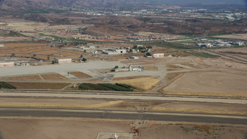 8K stock footage aerial video of an abandoned airport, Irvine, California Aerial Stock Footage | AX0159_166
