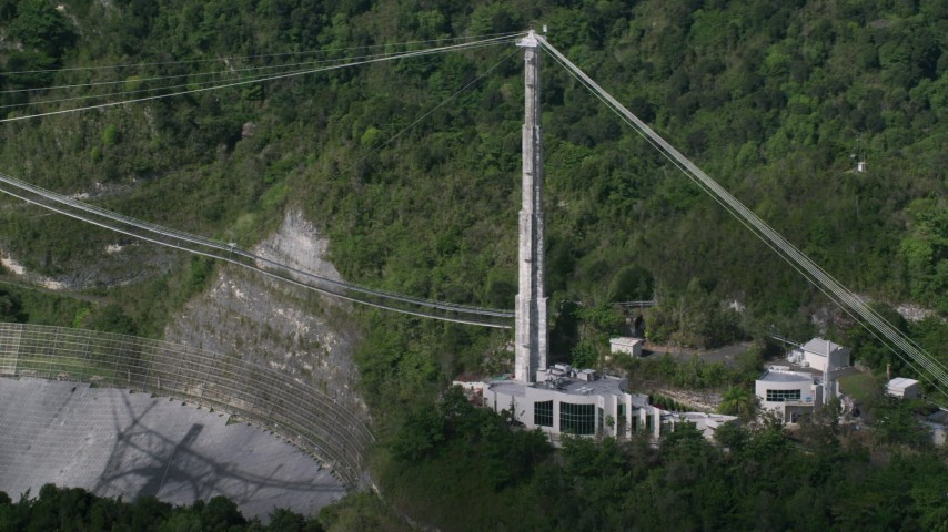 5k stock footage aerial video Close up of Arecibo Observatory, Puerto Rico  Aerial Stock Footage | AX101_103