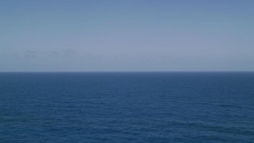 5k stock footage aerial video of Sapphire blue waters, Atlantic Ocean  Aerial Stock Footage | AX102_092