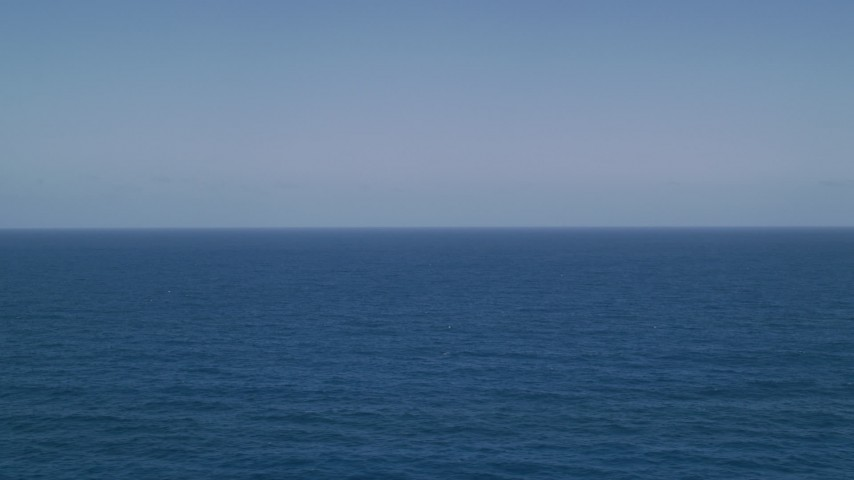 5k stock footage aerial video of Sapphire blue ocean waters, Atlantic Ocean  Aerial Stock Footage AX102_093   Axiom Images